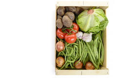 Seasonal vegetables in a crate Stock Photos