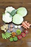 Seasonal vegetables on  table Royalty Free Stock Image