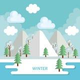 Seasonal weather landscape icon Royalty Free Stock Photo