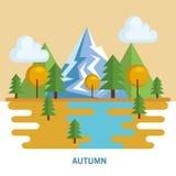 Seasonal weather landscape icon Royalty Free Stock Images