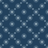 Seasonal winter symmetrical blue background with snowflakes Royalty Free Stock Images