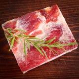 Seasoned bacon - pancetta stagionata Royalty Free Stock Photos