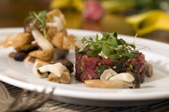 Seasoned beef tartare 2 Royalty Free Stock Photo