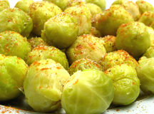 Seasoned brussels sprouts Royalty Free Stock Image