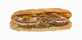 Seasoned Chicken and Cheese Sandwich Stock Photography