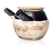 Seasoned Chinese Herbal Medicine Claypot Royalty Free Stock Photos