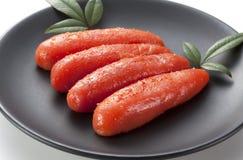 Seasoned cod roe Royalty Free Stock Images