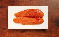 Seasoned cod roe Stock Image