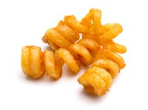 Seasoned Curly Fries stock photography