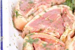 Seasoned lamb chops Stock Photos