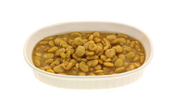Seasoned Lima Beans Royalty Free Stock Photography