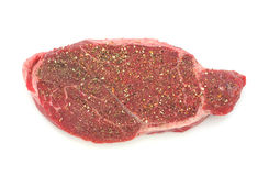 Seasoned London broil steak Royalty Free Stock Photo