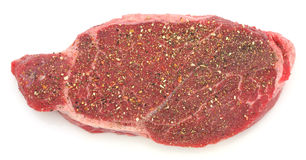 Seasoned London broil steak Royalty Free Stock Photography