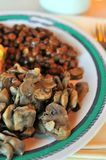 Seasoned mushrooms Royalty Free Stock Images