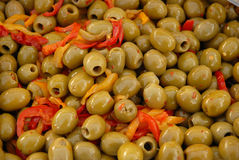 Seasoned olives Royalty Free Stock Photography