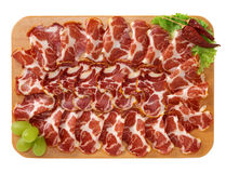 Seasoned pork shoulder - Cold cuts Stock Photos