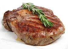 Seasoned Rib-Eye Beef Steak Stock Image