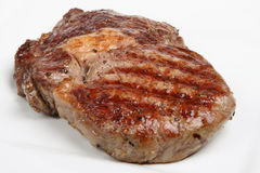 Seasoned Rib-Eye Steak Royalty Free Stock Photo