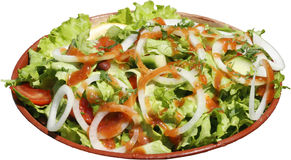 Seasoned salad with fresh vegetables, tomatoes and bean. Royalty Free Stock Photography