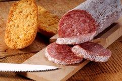 Seasoned salami Stock Image