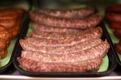 Seasoned Sausages Royalty Free Stock Photos