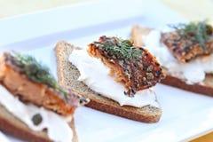 Seasoned Smoked Salmon Stock Photography