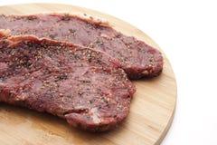 Seasoned steak Royalty Free Stock Photos