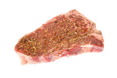 Seasoned steak Stock Image