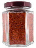 Seasoning chilli in jar Stock Image