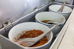 Seasoning in food shop. Royalty Free Stock Photography