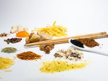 Seasoning and ingredients. Stock Images