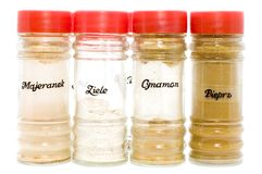Seasoning in jar Stock Photos