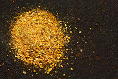 Seasoning mix on a dark textured background Stock Photos