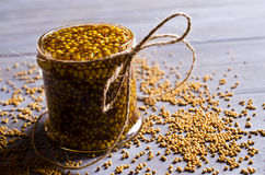 Seasoning from mustard seeds Royalty Free Stock Image
