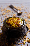 Seasoning from mustard seeds Royalty Free Stock Images