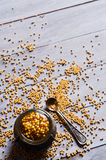 Seasoning from mustard seeds Royalty Free Stock Photo