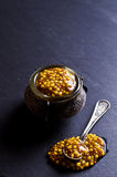 Seasoning from mustard seeds Stock Image