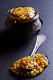 Seasoning from mustard seeds Stock Photography