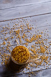 Seasoning from mustard seeds Royalty Free Stock Image