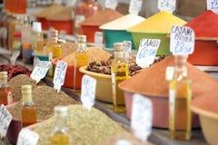Seasoning. Traditional stall seasoning from Morocco Stock Image