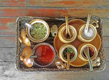 Seasoning tray Royalty Free Stock Images