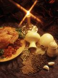 Seasonings for the hen(food style) Stock Images