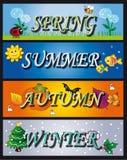 Seasons. Illustration of seasons spring summer autumn winter Royalty Free Stock Photos