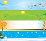 Seasons. Banner illustrations for web sites Royalty Free Stock Photos
