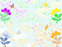 Seasons. The four seasons illustrated as flowers Stock Photography