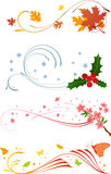 Seasons. Vector illustration; design element Royalty Free Stock Photography
