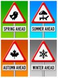 Seasons ahead vector illustration