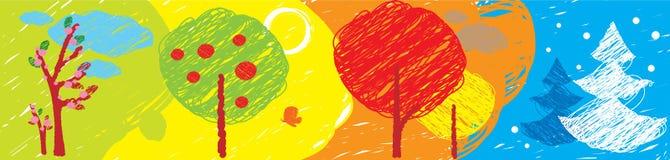 Seasons banner Stock Image