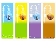 Seasons banner. Illustration of four seasons banner Stock Images