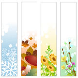 Seasons banners. Vector illustration of Colorful Four seasons banners royalty free illustration